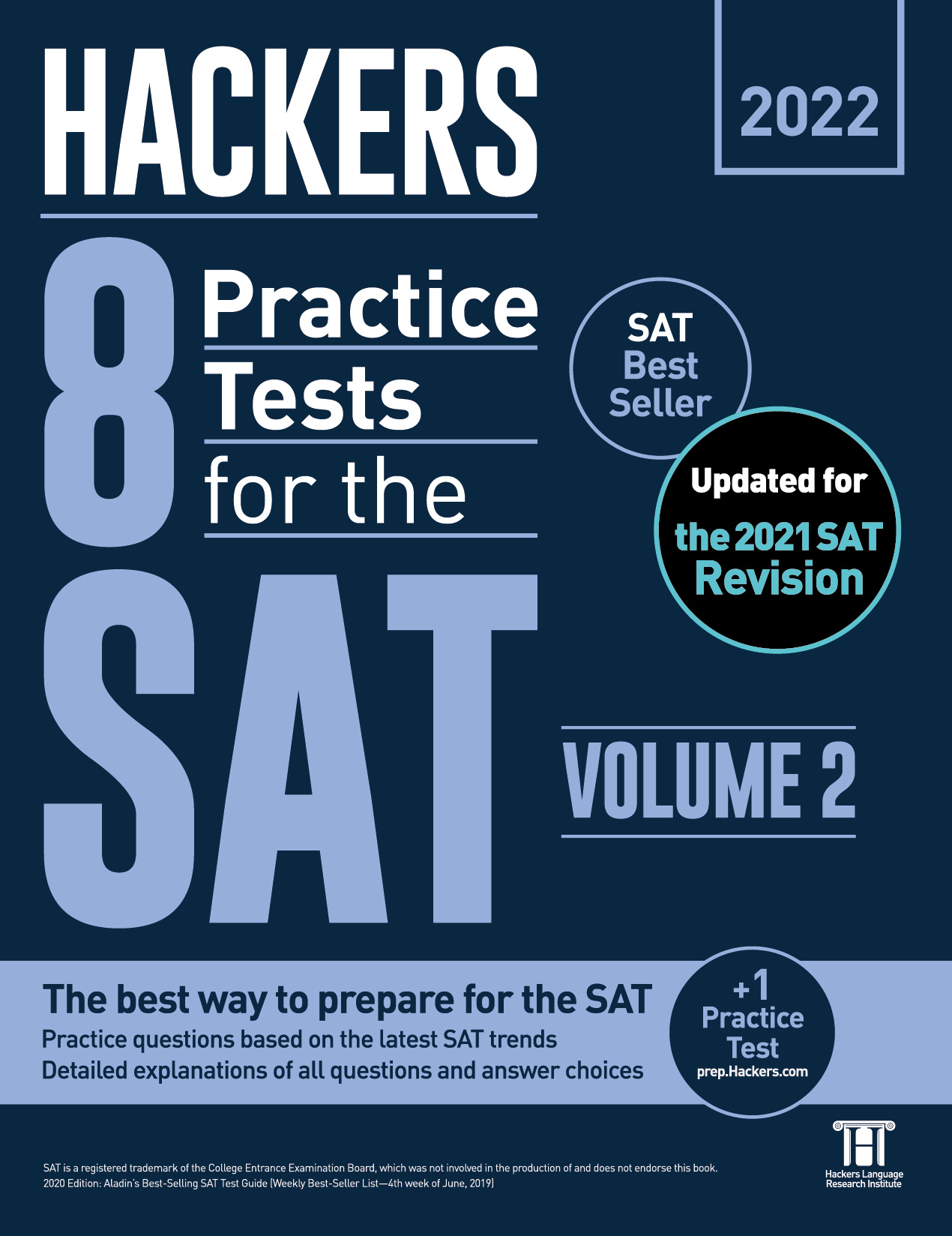 Hackers 8 Practice Tests for the SAT Volume 2